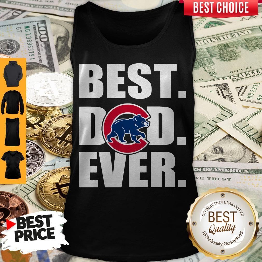 Pretty Chicago Cubs Best Dad Ever Tank Top