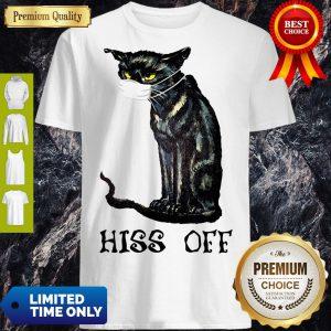 Pretty Black Cat Hiss Off Shirt