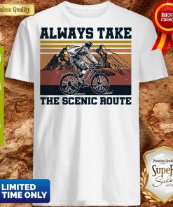 Premium Cycling Always Take Scenic Route Vintage Shirt