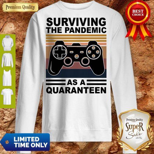Game Surviving The Pandemic As A Quaranteen Sweatshirt