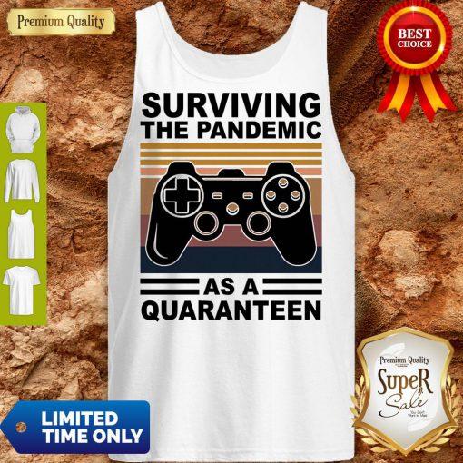 Game Surviving The Pandemic As A Quaranteen Tank Top