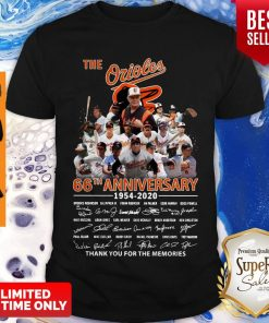 The Orioles 66th Anniversary 1954 2020 Signature Thank You For The Memories Shirt