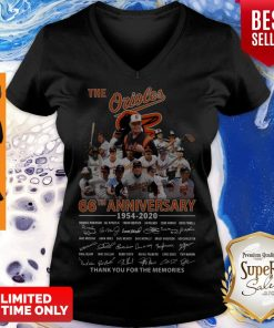 The Orioles 66th Anniversary 1954 2020 Signature Thank You For The Memories V-neck