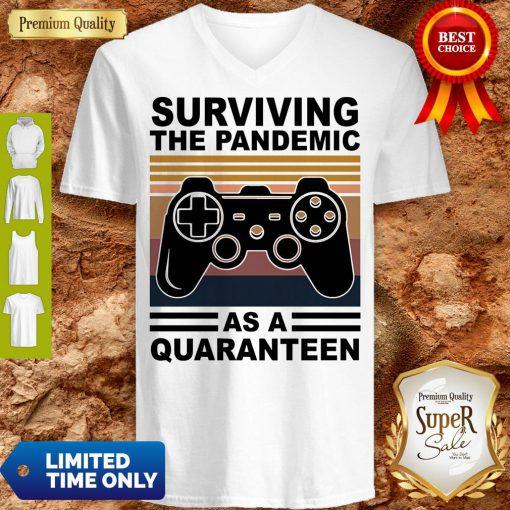 Game Surviving The Pandemic As A Quaranteen V-neck
