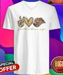 Funny Peace Love Brown Sugar V-neck