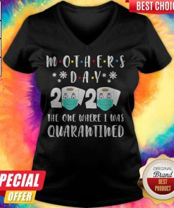 Mother's Day 2020 The One Where I Was Quarantined Toilet Paper V-neck