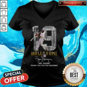 Nice 19 Hall Of Fame Mr.Padre Thank You For The Memories Signature V-neck
