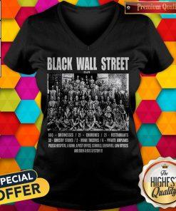 Nice Black Wall Street V-neck