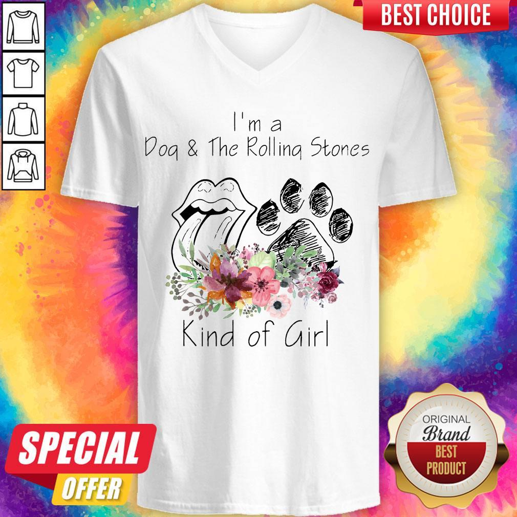 Nice I'm A Dog And The Rolling Stones Kind Of Girl V-neck