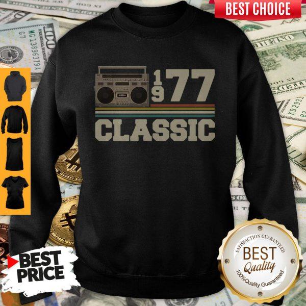 Official Cassette 1977 Classic Vintage Sweatshirt