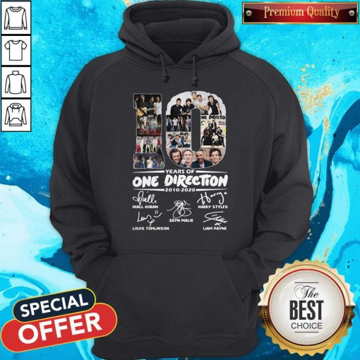 Premium 10 Years Of One Direction 2010 2020 Signatures Hoodie