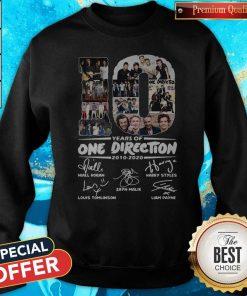 Premium 10 Years Of One Direction 2010 2020 Signatures Sweatshirt
