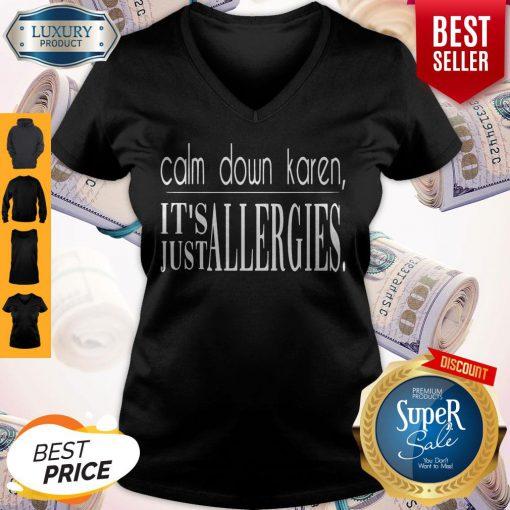Premium Calm Down Karen V-neck
