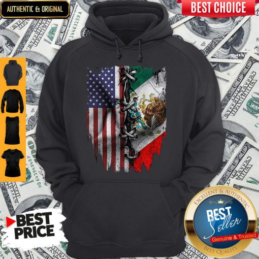 Premium Mexican And American Flag Hoodie