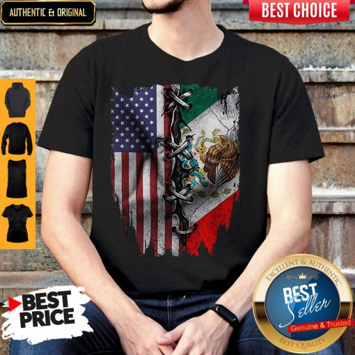 Premium Mexican And American Flag Shirt