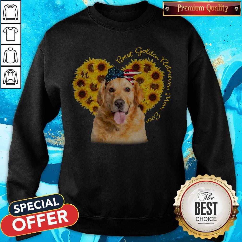 Pretty Best Golden Retriever Sunflower Mom Ever Sweatshirt