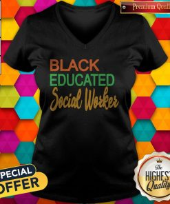 Pretty Black Educated Social Woker V-neck