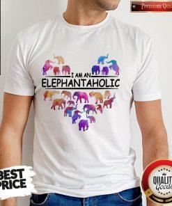 Pretty Heart I Am An Elephant Aholic Shirt
