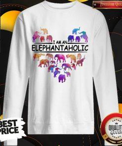 Pretty Heart I Am An Elephant Aholic Sweatshirt