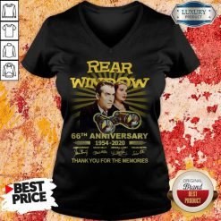 Rear Window 66th Anniversary 1954 2020 Thank You For The Memories Signatures V-neck