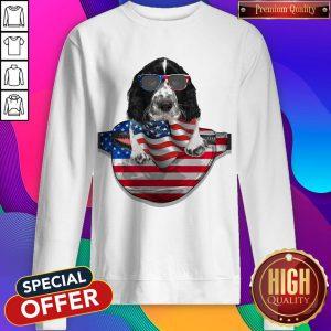 Springer Spaniel Waist Pack Flag American Flag Independence Day Sweatshirt