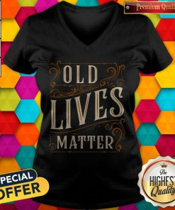 Awesome Old Lives Matter V-neck