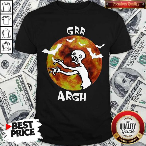 Awesome Zombie Vampire Grr Argh Mutant Enemy Halloween Shirt