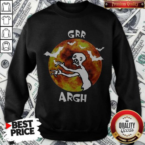 Awesome Zombie Vampire Grr Argh Mutant Enemy Halloween Sweatshirt