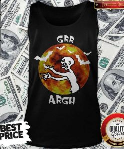 Awesome Zombie Vampire Grr Argh Mutant Enemy Halloween Tank Top
