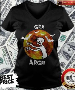 Awesome Zombie Vampire Grr Argh Mutant Enemy Halloween V-neck