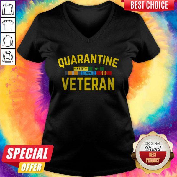 Premium Quarantine Covid 19 Veteran V-neck