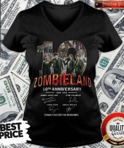 Pretty Zombieland 10th Anniversary 2009 2019 Signatures V-neck