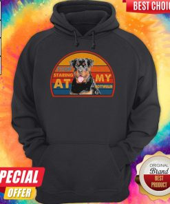 Awesome Stop Staring At My Rottweller Hoodie