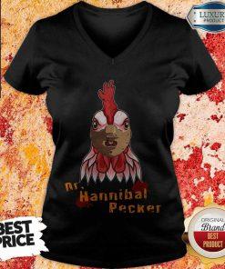 Nice Rooster Dr Hannibal Lecter Pecker V-neck