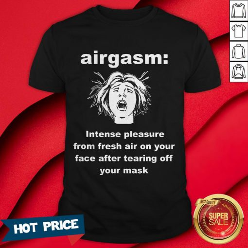 2020 Airgasm Funny Mask Freedom Design T-Shirt
