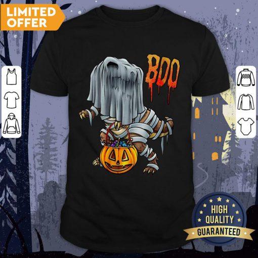 2020 Is Boo Sheet Dinosaur Boo T-Rex Halloween Costume Shirt