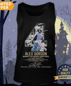 4 Alex Gordon Kansas City Royals 2007-2020 Thank You For The Memories Signatures Tank Top
