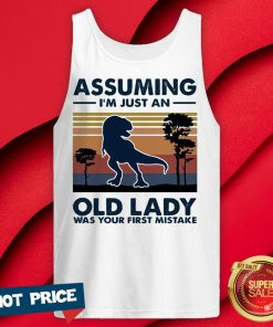 Dinosaur Assuming I'm Just An Old Lady Was Your First Mistake Vintage Retro Tank Top