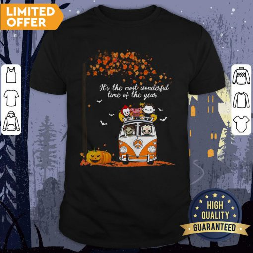 Hippie Car Horror Characters Chibi It's The Most Wonderful Time Of The Year Halloween Shirt