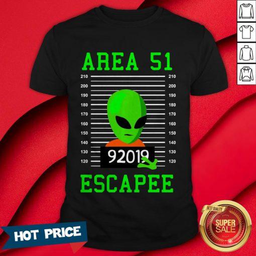 Alien Escapee Area 51 Cute Vintage Halloween Costume Shirt