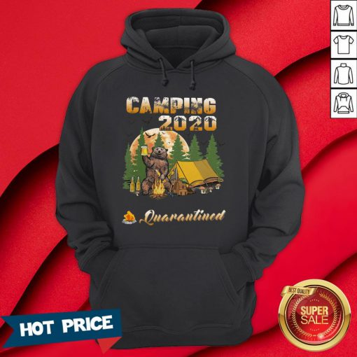 Bear Camping 2020 The One Where They Were Quarantined Hoodie