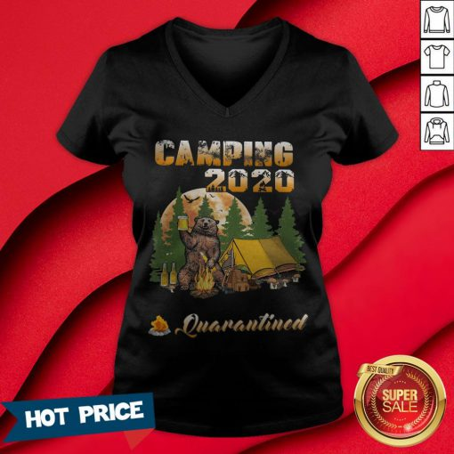 Bear Camping 2020 The One Where They Were Quarantined V-neck