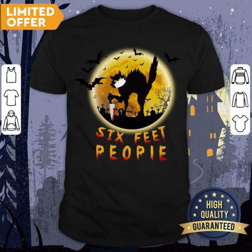 Black Cat Six Feet People Horror Halloween Shirt