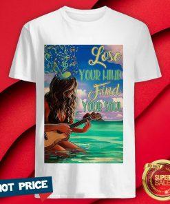 Funny Ukulele Lose Your Mind Find Your Soul Vertical Poster Shirt
