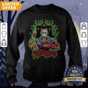 Halloween Michael Myers Holding Knife Splatterhouse Sweatshirt