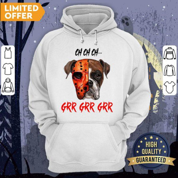 Happy Halloween Dog Ch Ch Ch Grr Grr Grr Hoodie