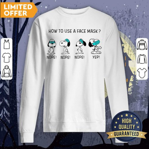 How To Use A Face Mask Snoopy Sweatshirt
