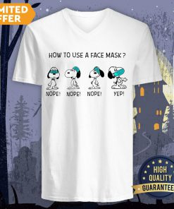 How To Use A Face Mask Snoopy V-neck