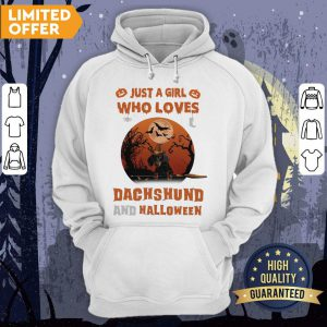 Just A Girl Who Loves Dachshund And Halloween Hoodie