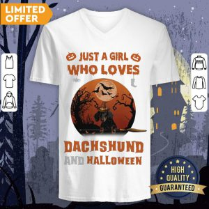 Just A Girl Who Loves Dachshund And Halloween V-neck